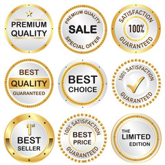Set of business banner in premium gold and silver shade.