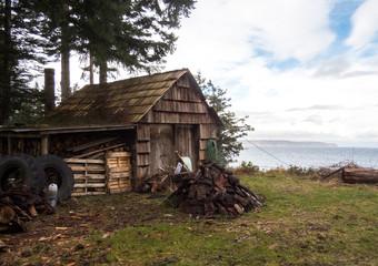 Old wood garage
