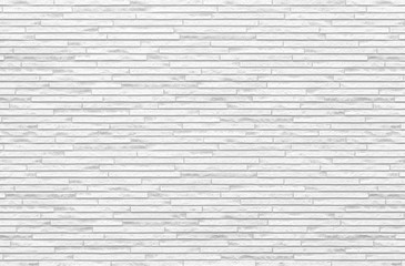 White brick tile wall seamless background and texture..