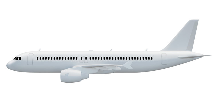 3d illustration of an airplane side view