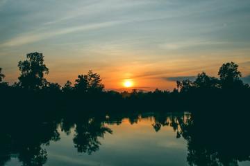 Gold Colour Sunrise in The Morning in Batulicin Tanah Bumbu, South Kalimantan Indonesia