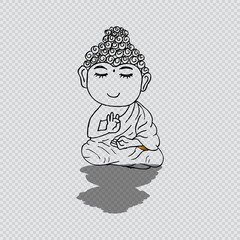 Little meditating Buddha.
