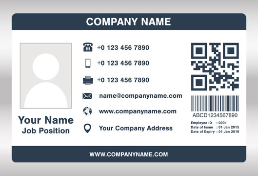 Employee Id Card Template Stock Photos And Royalty Free Images Vectors And Illustrations Adobe Stock