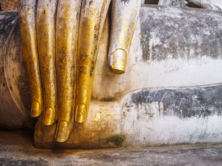 Buddha Statue Hand with gold leaf Antique collection