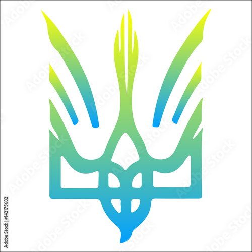 Trident Symbol Of Ukraine Bird Vector Stock Image And Royalty
