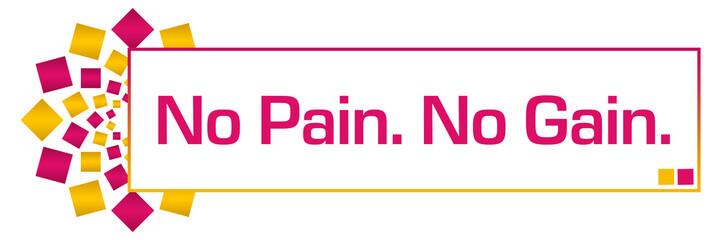No Pain No Gain Pink Orange Circular Bar