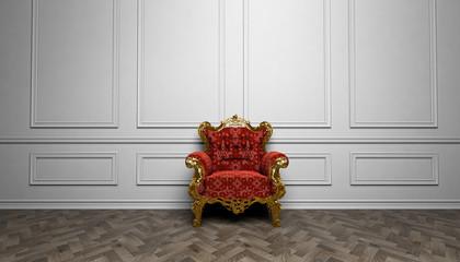 Antiker Sessel im Raum