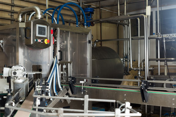View on dairy production gear on the works