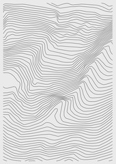 Vector abstract earth relief map. Generated conceptual elevation map.