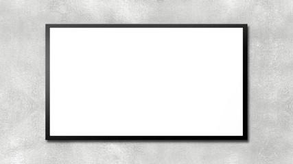 TV SET on a gray wall ready for your image or text - TV su un muro grigio pronta per la tua immagine o testo