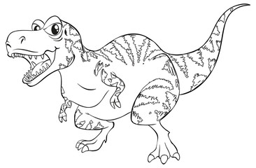 Doodle animal for T-Rex dinosaur