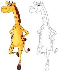 Doodle animal for giraffe standing