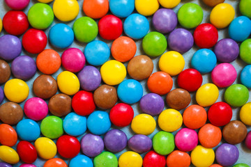 Background of multi-colored sweets
