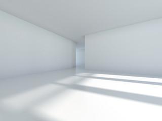 Empty room with window shadow