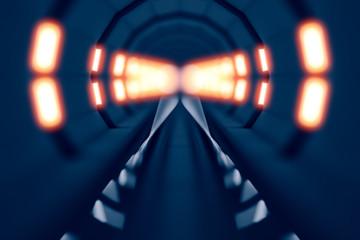 design element. 3D illustration. rendering. train lighted tunnel color image