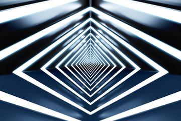 design element. 3D illustration. rendering. futuristic interior. empty stage.  high resolution background