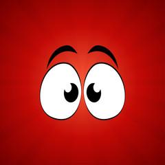 Cute Cartoon Eyes. Vector Illustration