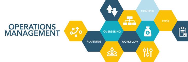 Operatıons Management Icon Concept