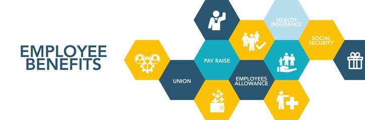 Employee Benefıts Icon Concept