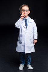 Little boy scientist