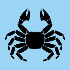 Crab, scorpion, animal, seafood, black, ocean