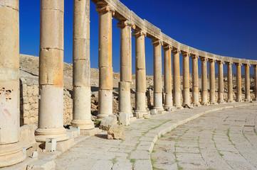 Jerash - ruins of the Roman city in Jordan