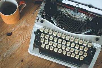 Retro Schreibmaschine, Teetasse