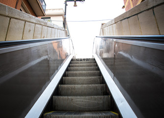 Moving Forward and Up Escalator