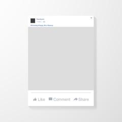 Social network photo frame vector illustration. Instagram. Mock up Vector illustration