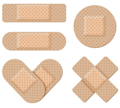 Antiseptic bandages vector isolated on white background