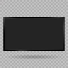 TV, modern blank screen lcd, led, on isolate background, stylish vector illustration EPS10