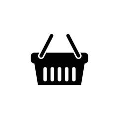 shopping basket icon flat disign