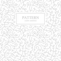 Curve seamless pattern. Retro fashion.