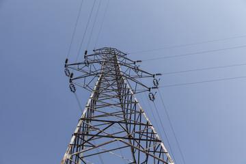 high voltage utility power line.