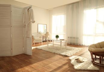 Interior of beautiful modern room