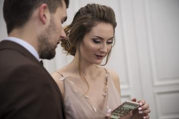 bride make selfie