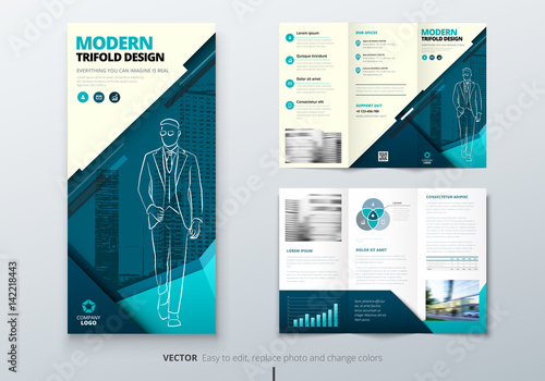 tri fold brochure design dl corporate business template for try