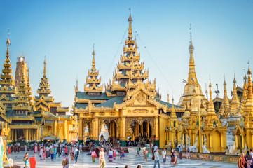 Shwedagon Pagoda in Yangon, Burma Myanmar
