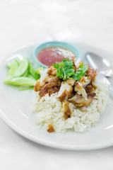 Thai crispy chicken with rice