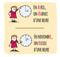 Photos illustrations et vid os de changement d 39 heure - Date changement d heure ...
