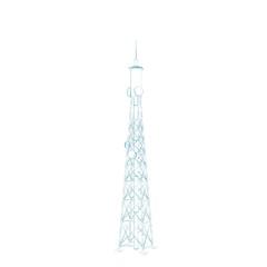 Radio Tower. Isolated on white background.Sketch illustration.