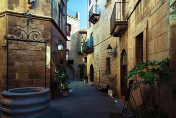 Poble Espanyol in Barcelona, Spain