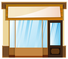 Shop design with banner on top