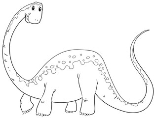 Doodles drafting animal for cute dinosaur