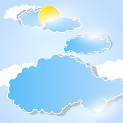 weather background with clouds easy all editable