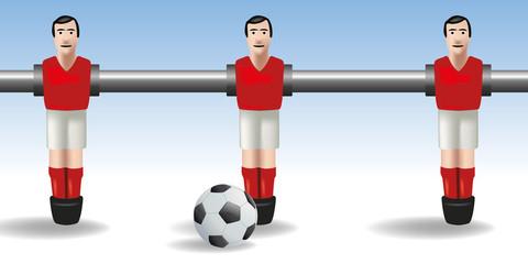 Baby foot - football - joueur - ballon - match - équipe - concept