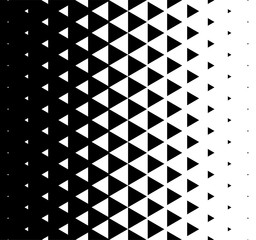 Halftone Triangular Pattern Vector. Abstract Monochrome Geometric Triangle Pattern Design Background