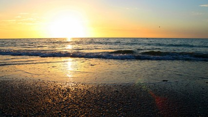 Sunset Rays Shinning on the Ocean