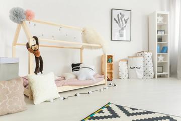 White, scandi style child bedroom