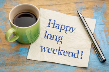 Happy long weekend napkin concept Wall mural